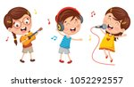 vector illustration of kids... | Shutterstock .eps vector #1052292557