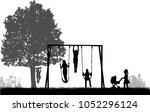 children at the playground.  | Shutterstock .eps vector #1052296124