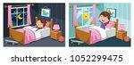 vector illustration of kid... | Shutterstock .eps vector #1052299475