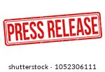 press release grunge rubber... | Shutterstock .eps vector #1052306111