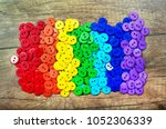 colors of rainbow. pattern of... | Shutterstock . vector #1052306339