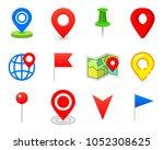geo pin as logo. geolocation...   Shutterstock .eps vector #1052308625