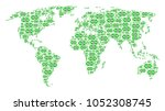 geographic map mosaic combined... | Shutterstock . vector #1052308745