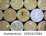 cryptocurrency background  new...   Shutterstock . vector #1052313581