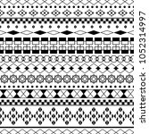 black and white ethnic tribal... | Shutterstock .eps vector #1052314997