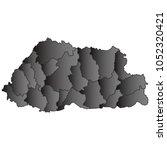 bhutan map black gradient grey...   Shutterstock .eps vector #1052320421