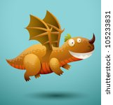Funny Flying Dragon 4  Vector