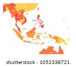 map of southeast asia. vector...   Shutterstock .eps vector #1052338721