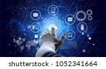 data management platform concept   Shutterstock . vector #1052341664