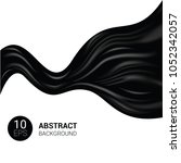 silk vector black silky fabric... | Shutterstock .eps vector #1052342057