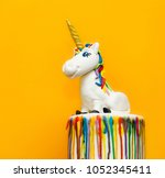 unicorn cake topper made with... | Shutterstock . vector #1052345411