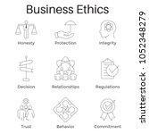 business ethics outline icon...   Shutterstock .eps vector #1052348279