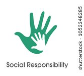 social responsibility solid... | Shutterstock .eps vector #1052348285