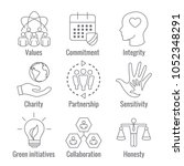 social responsibility outline...   Shutterstock .eps vector #1052348291