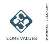 core values solid icon w person ... | Shutterstock .eps vector #1052348294