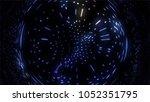 plexus style loop rotate sphere ... | Shutterstock . vector #1052351795