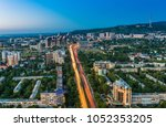almaty city view | Shutterstock . vector #1052353205
