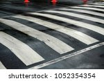 nobody on crosswalk | Shutterstock . vector #1052354354