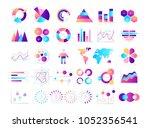 graphic chart. business data...   Shutterstock .eps vector #1052356541