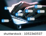 blockchain technology concept | Shutterstock . vector #1052360537