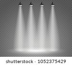 scene with spotlights on... | Shutterstock .eps vector #1052375429