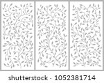 flower ornament for a cabinet ...   Shutterstock .eps vector #1052381714
