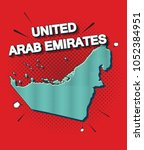 pop art map of united...   Shutterstock .eps vector #1052384951