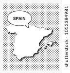 pop art map of spain   Shutterstock .eps vector #1052384981