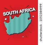 pop art map of south africa   Shutterstock .eps vector #1052384999