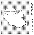 pop art map of south sudan   Shutterstock .eps vector #1052385005