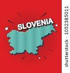 pop art map of slovenia   Shutterstock .eps vector #1052385011