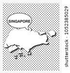 pop art map of singapore   Shutterstock .eps vector #1052385029