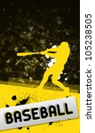 baseball objects and space on... | Shutterstock . vector #105238505