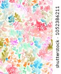 abstract  colorful  tropical... | Shutterstock . vector #1052386211