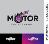 vector logo motor car workshop | Shutterstock .eps vector #1052393387