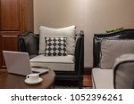 comfortable vintage couch with... | Shutterstock . vector #1052396261