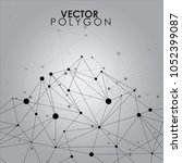 vector mountain polygon line... | Shutterstock .eps vector #1052399087
