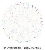 multi colored lines and dots... | Shutterstock .eps vector #1052407589