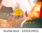 bitcoin business future life... | Shutterstock . vector #1052414021