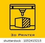 3d printer vector icon