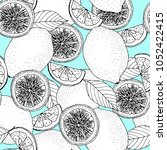 trendy seamless pattern with... | Shutterstock .eps vector #1052422415