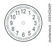 modern detailed clock face... | Shutterstock .eps vector #1052423609