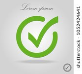 green tick check mark  box ... | Shutterstock .eps vector #1052424641