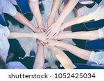 close up of high hand gesture ... | Shutterstock . vector #1052425034
