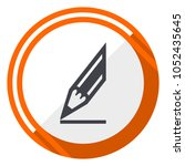 pencil flat design vector web... | Shutterstock .eps vector #1052435645
