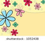 springtime fun flowers... | Shutterstock . vector #1052438