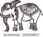 vintage graphic vector indian... | Shutterstock .eps vector #1052438537