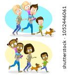 vector illustration of happy... | Shutterstock .eps vector #1052446061