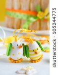 funny chickens on the... | Shutterstock . vector #105244775