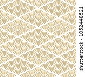 wave japanese pattern. gold... | Shutterstock .eps vector #1052448521